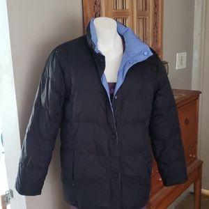 Lands End goose down reversible jacket size S 6-8
